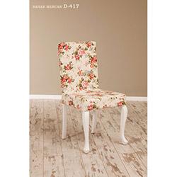 Simay D-417 Sandalye - Beyaz / Bahar Mercan