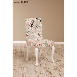Simay D-478 Sandalye - Beyaz / Manşet