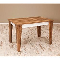 Sanal Mobilya Star Mutfak Masası - Leon Ceviz / Parlak Beyaz