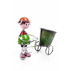 DecoTown Metal Bisiklet Motifli Mini Saksı
