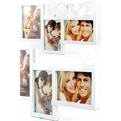 DecoTown Love Köşeli 3'lü Plastik Fotoğraf Çerçevesi