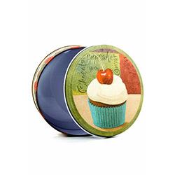 DecoTown Cup Cake Oval Metal Kutu
