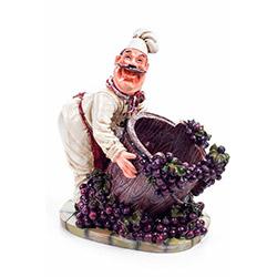 DecoTown Biblo Aşcı Üzüm Sepeti Şarap Tutacağı