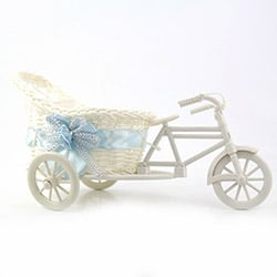 DecoTown Bisiklet Motifli  Sepet - Mavi