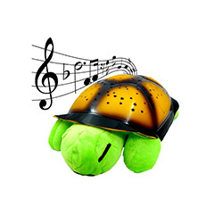 Ofine Renk Değiştiren Müzikli Kaplumbağa Gece Lambası - Yeşil