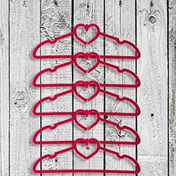 Secret 5'li Kalpli Askı - Kırmızı