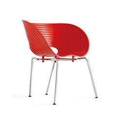 Ünal İş Storm (2 Adet) Sandalye - Kırmızı