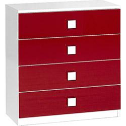 Comfy Home Ayyıldız Şifonyer - Beyaz / Kırmızı