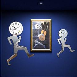 M3 Decorium Koşan Adamlar Kırılmaz Ayna Saat