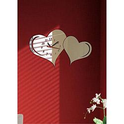 M3 Decorium Kenetlenmiş Kalpler Kırılmaz Ayna Saat