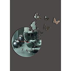 M3 Decorium Yuvarlak Kelebekli Kırılmaz Ayna Saat