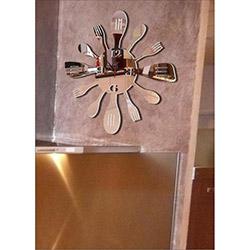 M3 Decorium Mutfak Kaşık Çatal Kırılmaz Ayna Saat