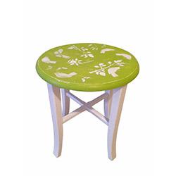 Senora Özlem Flower Tabure - Yeşil