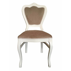 Albero Home Bianco Oymalı Sandalye - Kahverengi