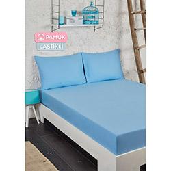 Tria Home Ep-003923 Pamuklu Lastikli Tek Kişilik Çarşaf Seti - Mavi