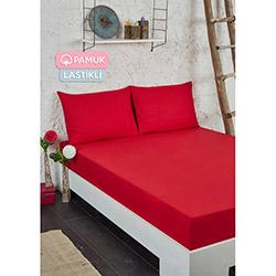Tria Home Ep-003930 Pamuklu Lastikli Tek Kişilik Çarşaf Seti - Kırmızı