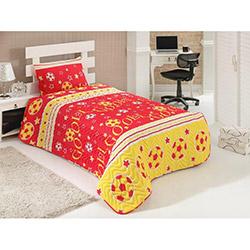 Eponj Home Gol Tek Kişilik Yatak Örtüsü Takımı - Sarı/Kırmızı
