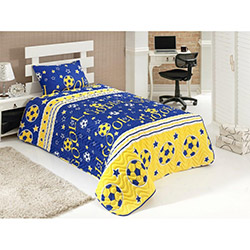 Eponj Home Gol Tek Kişilik Yatak Örtüsü Takımı - Sarı/Lacivert