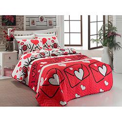 Eponj Home Ep-006411 Lovestory Tek Kişilik Yatak Örtüsü Takımı - Kırmızı