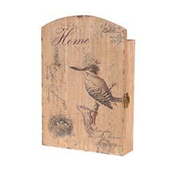 Woody Kuş Desenli Ahşap Anahtarlık - 3