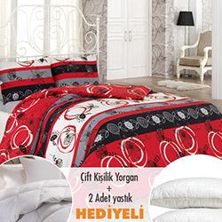 Walls Sprıng Nevresim Seti (Yorgan ve 2 Yastık Hediyeli) - Kırmızı
