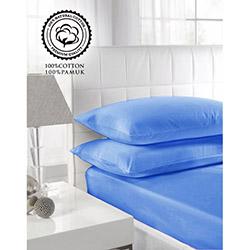 Walls Home Pamuklu Fitted Tek Kişilik Çarşaf Seti (1 Alana 1 Bedava) - Mavi