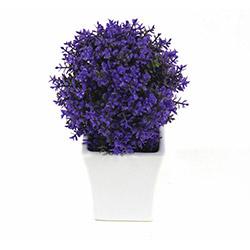 DesenHome Xd13-250 Top Şimşir Pot Yapay Çiçek - Mor