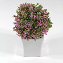 DesenHome Xd13-250 Top Şimşir Pot Yapay Çiçek - Pembe