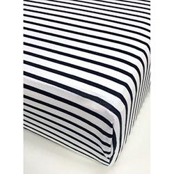 Alla Turca Tek Kişilik Fitted Penye Çarşaf - Siyah / Beyaz
