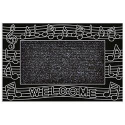B'Home Kapı Önü Paspas Müzik - Gümüş