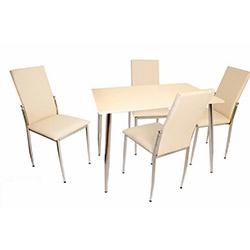 Bey Manolya Gözde Mutfak Masa Takımı - Krem