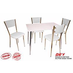 Bey Manolya Beykoz Mutfak Masa Takımı - Beyaz
