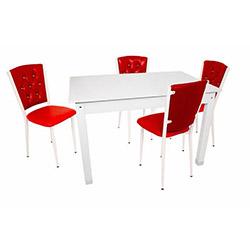 Bey Beykoz Gelincik Mutfak Masa Takımı - Kırmızı