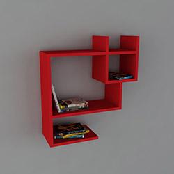 Dekorister Puss Kitaplık - Kırmızı
