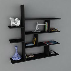 Dekorister Motif Kitaplık 2 - Siyah