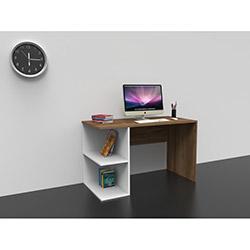 Dekorister Elegance Çalışma Masası - Ceviz / Beyaz