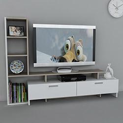 Dekorister Şimal Tv Ünitesi - Beyaz / Cordoba