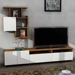 Dekorister Mariposa Tv Ünitesi - Ceviz / Beyaz