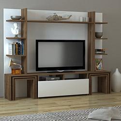 Dekorister Dante Tv Ünitesi - Beyaz / Ceviz