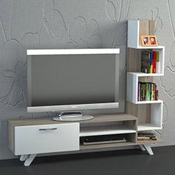Dekorister Ceren Tv Ünitesi - Beyaz / Cordoba