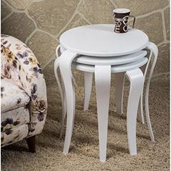 Comfy Home Manolya Zigon Sehpa - Beyaz