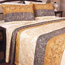 Begonville Opal Ambiance Gold Çift Kişilik Yatak Örtüsü