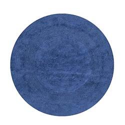 Era Club Yuvarlak Banyo Halısı Mavi - 70x70 cm