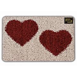 Era Shaggy Kalp Desen Banyo Halısı (Kırmızı) - 50x80 cm