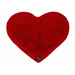 Era Kalp Banyo Halısı (Kırmızı) - 73x100 cm