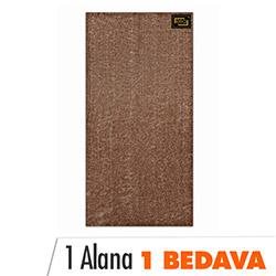 Era Yera Sof Polyester Halı (Koyu Kahverengi) - 70x140 cm (1 Alana 1 Bedava)
