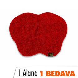 Era Panga Ayağı Banyo Paspası (Kırmızı) - 60x80 cm (1 Alana 1 Bedava)