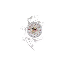 Ferforje Kuşlu Duvar Saati