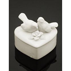 İmaj Porselen Kuşlu Kalp Dekoratif Kutu