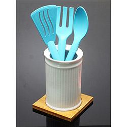 İmaj 03 Bambu Standlı Porselen Kaşıklık